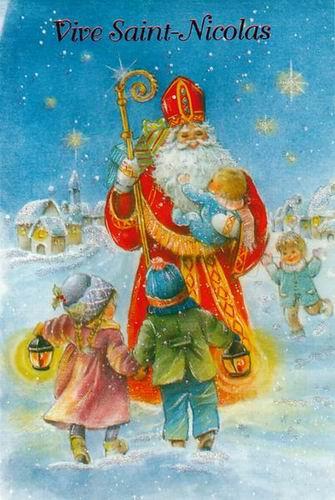 carte bonne fête de saint nicolas enfants